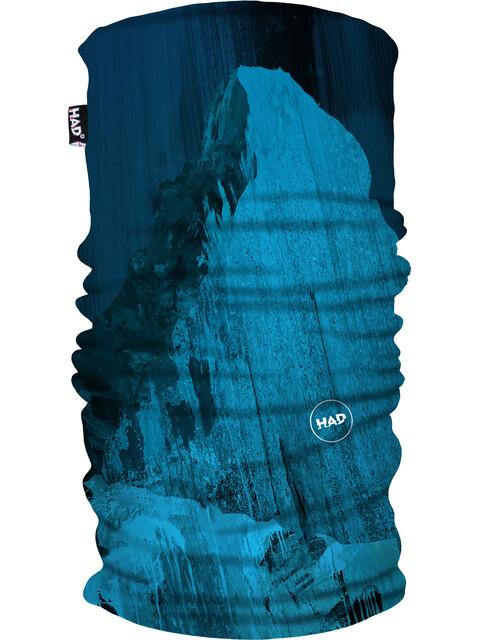 HAD Printed Fleece Tube Scarf matterhorn blue